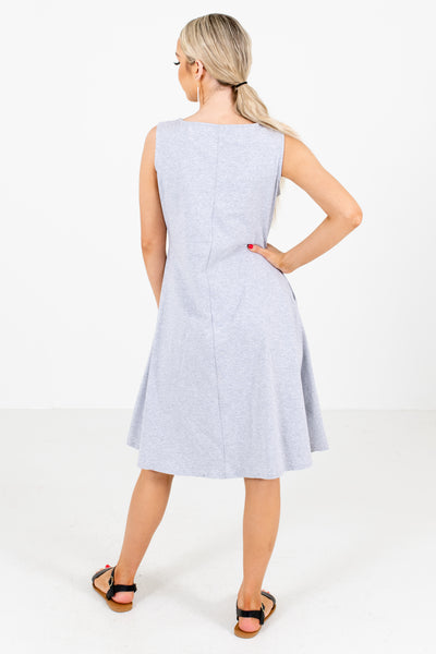Heather Gray Cute and Comfortable Boutique Knee-Length Dresses for Women
