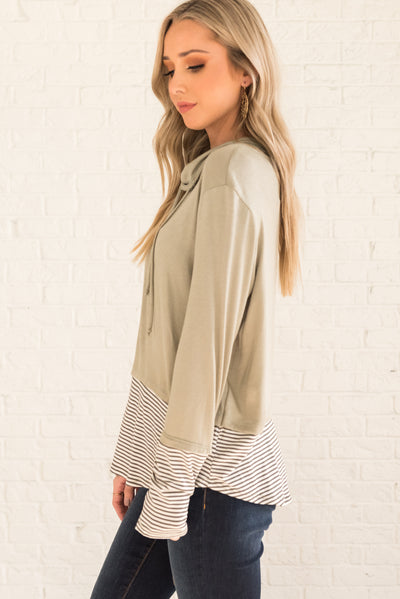 Sage Green Flowy and Flattering Boutique Clothing for Women