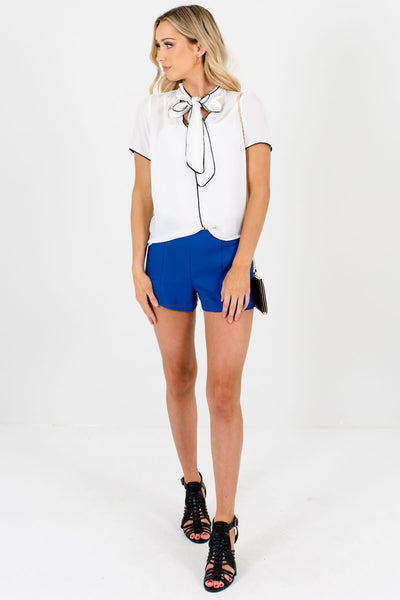 Blue Cute and Comfortable Boutique Shorts for Women