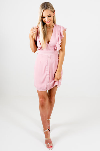 Light Pink Cute and Fully Lined Boutique Mini Dresses for Women