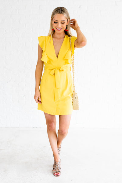 Yellow Women's Spring and Summertime Boutique Clothing