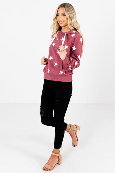 Brick Red Cute and Comfortable Boutique Hoodies for Women