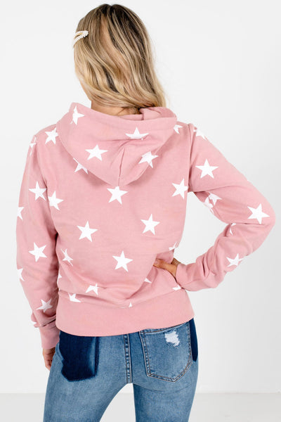 Women's Pink Drawstring Hood Boutique Hoodie