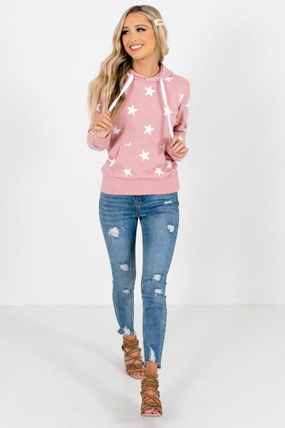 Pink Cute and Comfortable Boutique Hoodies for Women