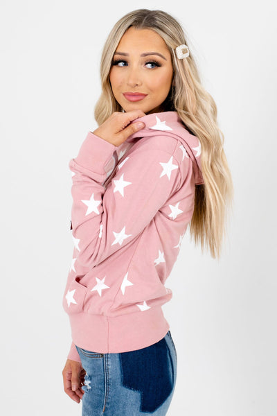 Pink Front Pocket Boutique Hoodies for Women