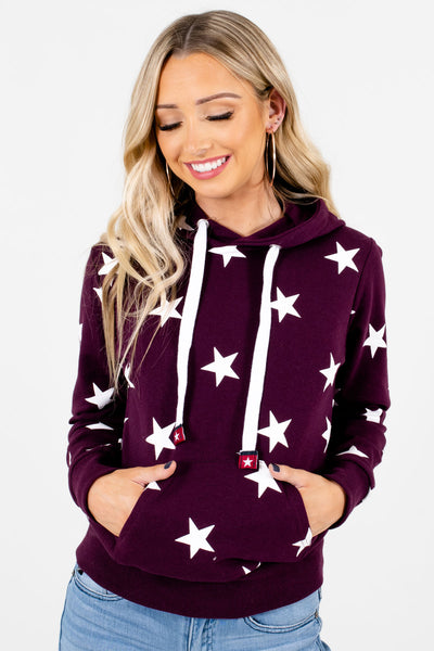 Women's Purple Warm and Cozy Boutique Hoodies