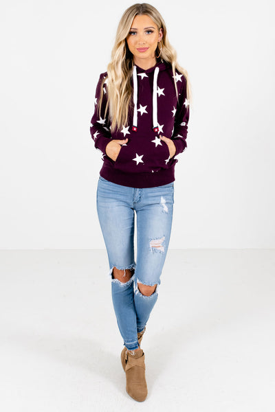 Purple Cute and Comfortable Boutique Hoodies for Women