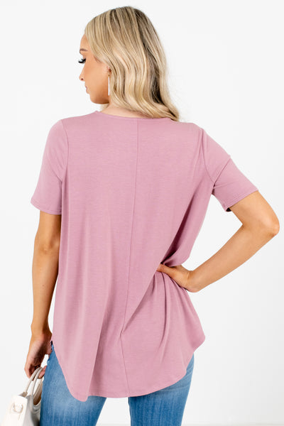 Women's Pink Stretchy Material Boutique Blouse