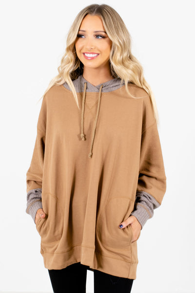 Women's Muted Orange Warm and Cozy Boutique Hoodie