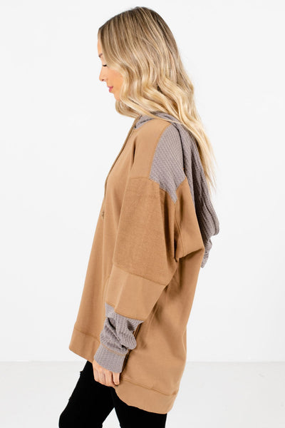 Muted Orange Thick, High-Quality Material Boutique Hoodies for Women
