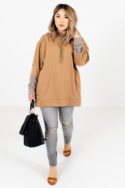 Muted Orange Cute and Comfortable Boutique Hoodies for Women
