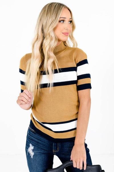 Women's Mustard Yellow Warm and Cozy Boutique Tops
