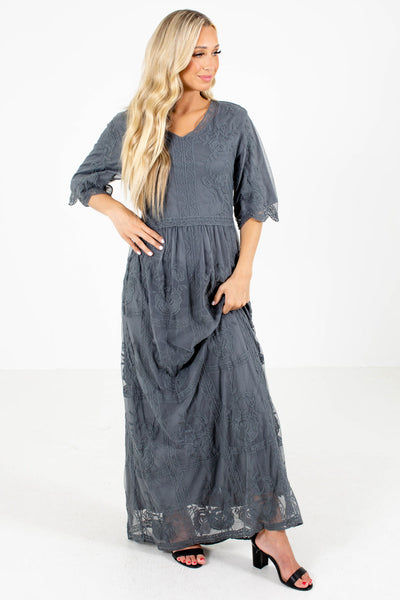Women's Gray Spring and Summertime Boutique Clothing