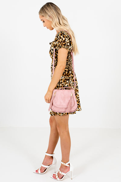 Leopard Animal Print Cute Satin Mini Dresses for Women
