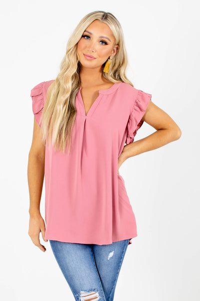 Right Reasons Short Sleeve Blouse