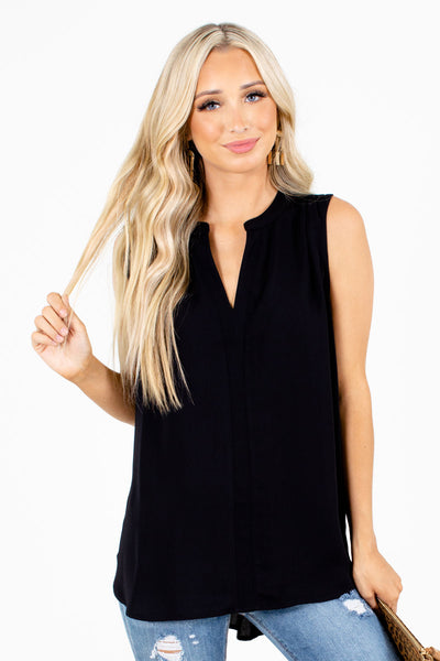 Black Cute and Comfortable Boutique Tank Tops for Women