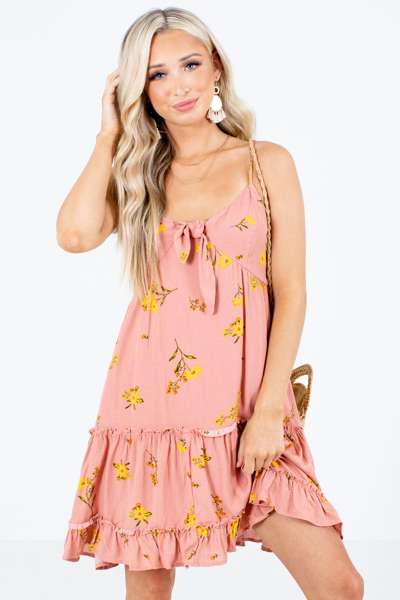 Rooftop Sunset Floral Mini Dress