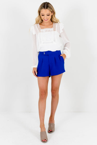 Royal Blue Cute and Comfortable Boutique Shorts for Women