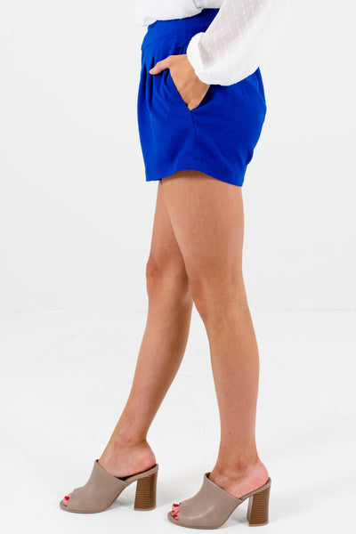 Women's Royal Blue Boutique Shorts with Pockets