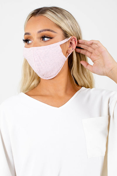 Women's Pink Breathable Boutique Face Mask