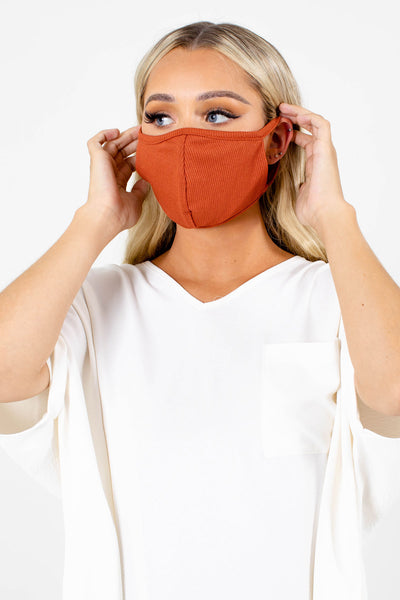 Rust Orange Lightweight Boutique Face Masks for Women