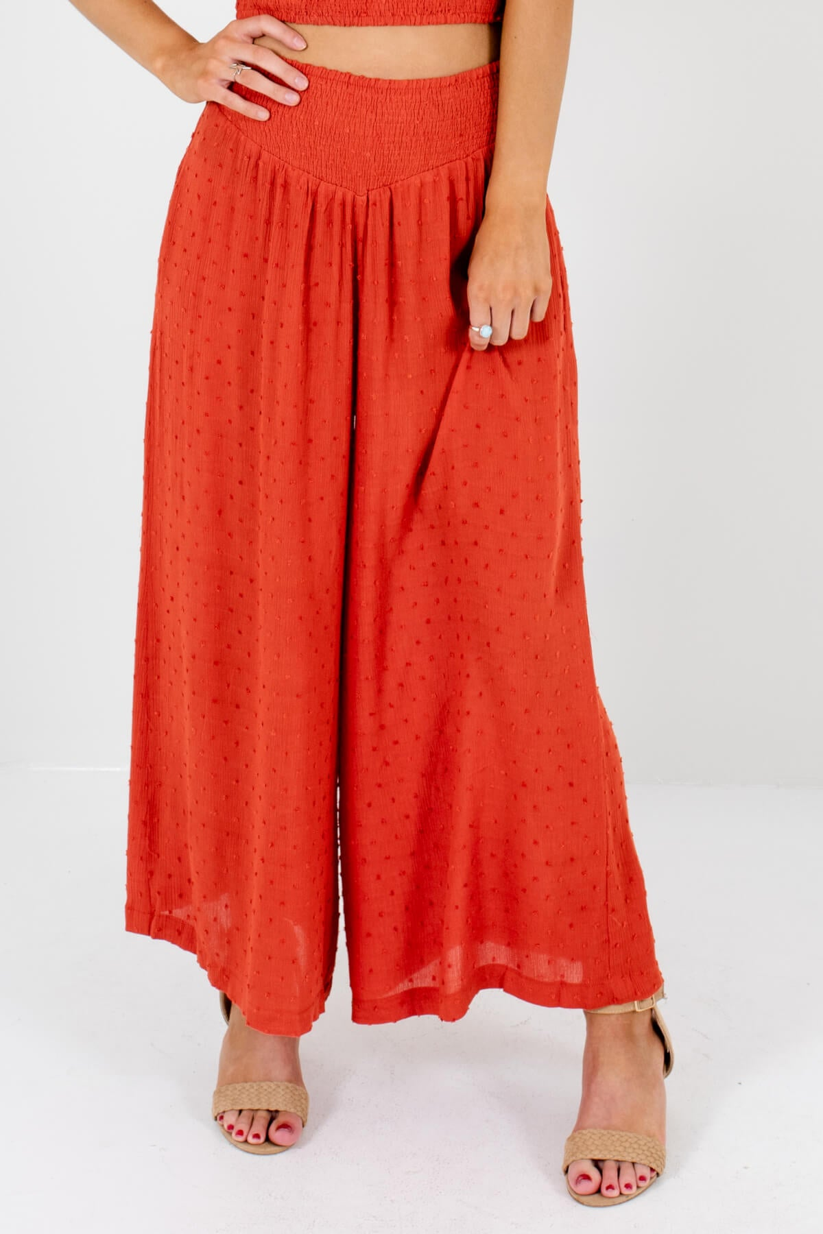 Orange Boutique Palazzo Style Pants for Women