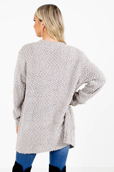 Women's Gray Cozy and Warm Boutique Cardigan