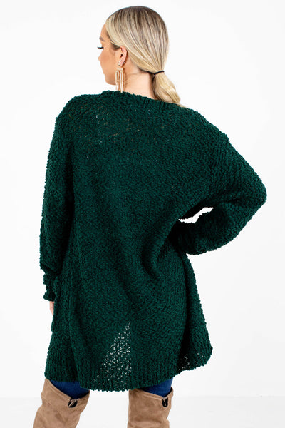 Women's Green Lightweight Boutique Cardigan