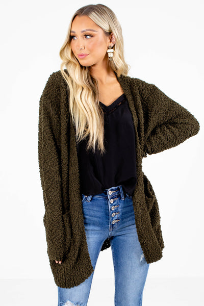 Olive Cute and Comfortable Boutique Cardigans for Women