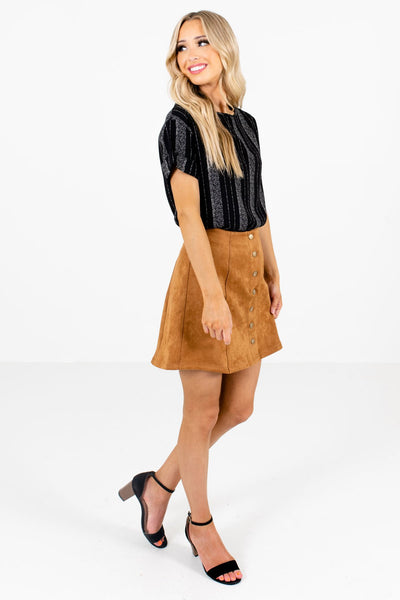 Camel Brown Cute and Comfortable Boutique Mini Skirts for Women