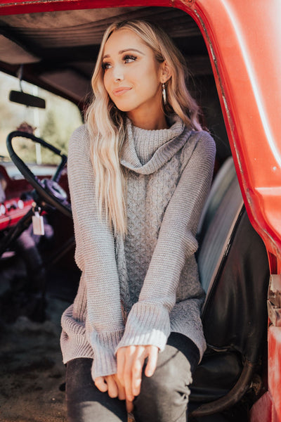 Gray Boutique Sweaters for Women