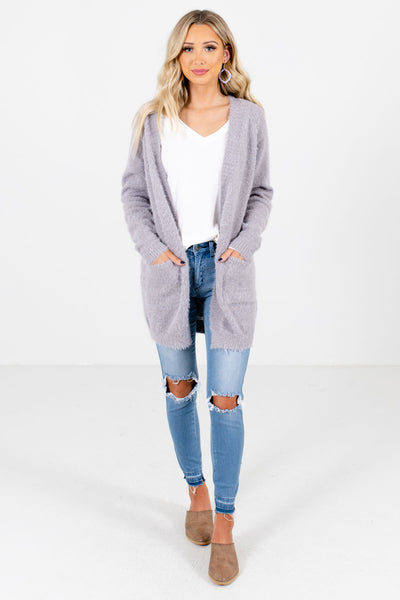 Women's Light Gray Fall and Winter Boutique Clothing
