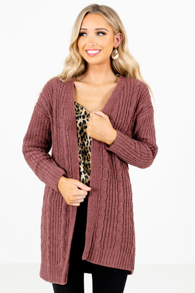 Women's Mauve Warm and Cozy Boutique Clothing