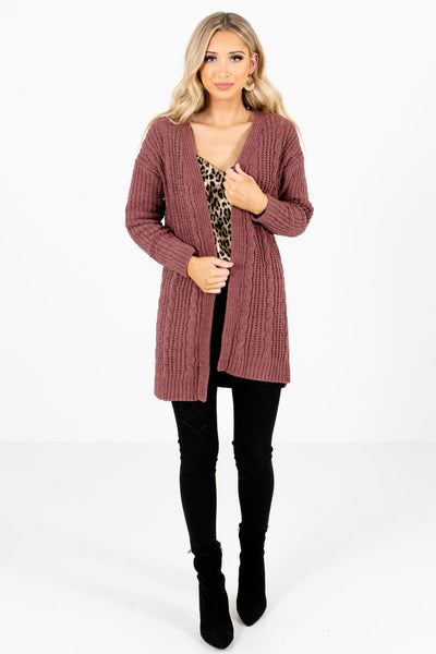 Women's Mauve Fall and Winter Boutique Clothing