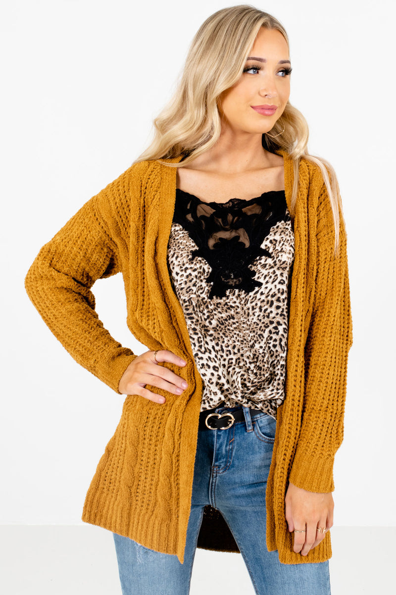 Secret Crush Mustard Knit Cardigan