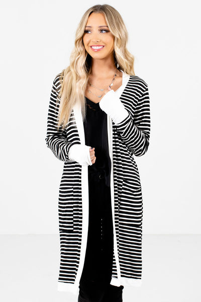Women's Black Layering Boutique Cardigan