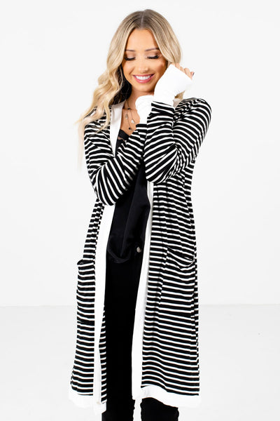 Women's Black High-Quality Material Boutique Cardigan