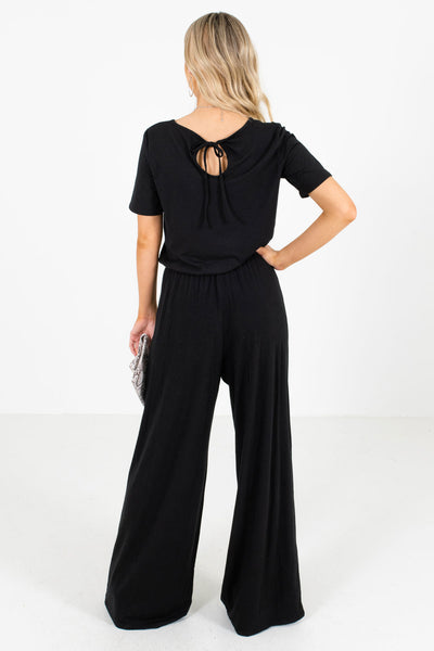 Women's Black High-Quality Stretchy Material Boutique Jumpsuit