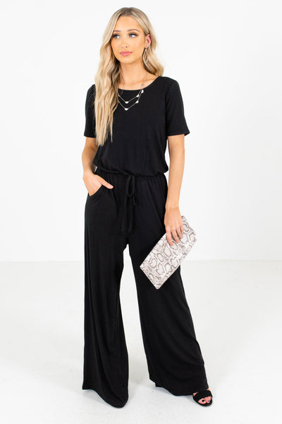 Black Boutique Jumpsuits with Pockets for Women