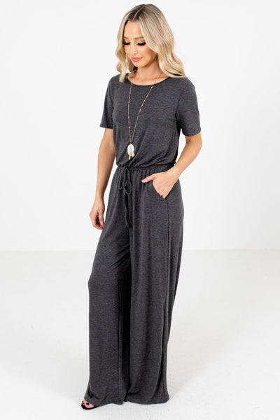 Women's Charcoal Gray Spring and Summertime Boutique Clothing