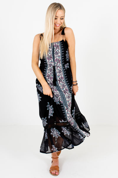 Women's Black Cute and Comfortable Boutique Maxi Dress