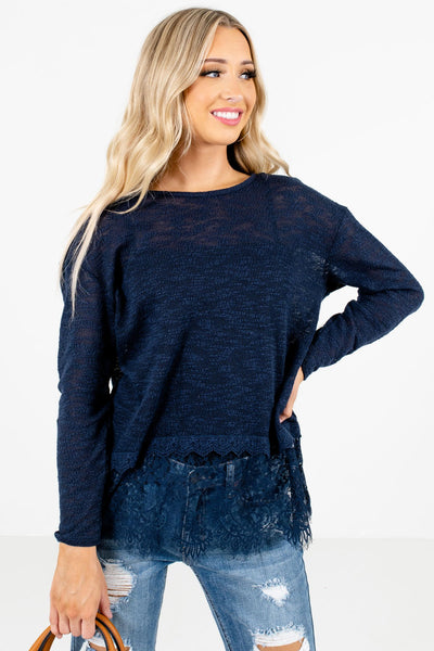 Women's Blue Layering Boutique Tops