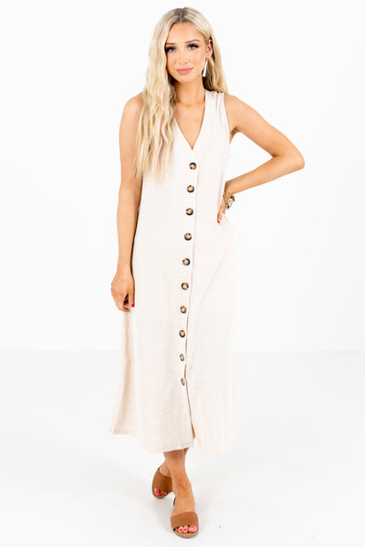 Women's Beige Spring and Summertime Boutique Clothing