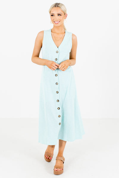 Green Casual Everyday Boutique Midi Dresses for Women