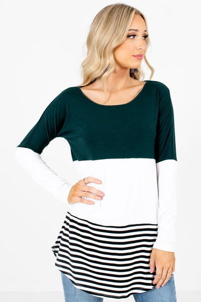Women's Teal Warm and Cozy Boutique Tops