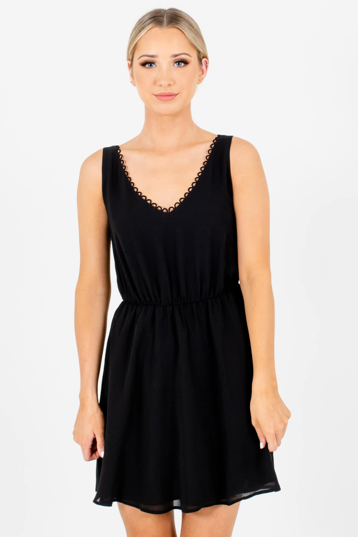 Black Mini Length Boutique Dresses for Women