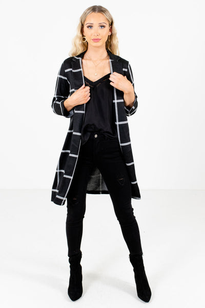 Women's Black Casual Everyday Boutique Blazer