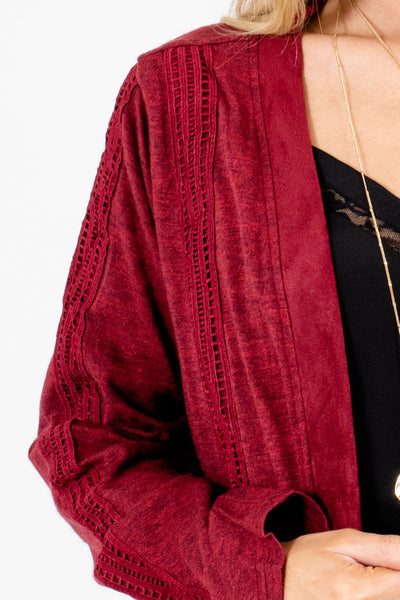 Burgundy Affordable Online Boutique Clothing for Women