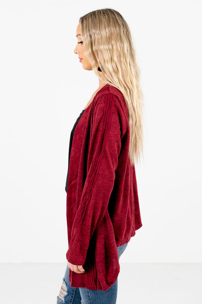 Burgundy Warm and Cozy Boutique Cardigans for Women