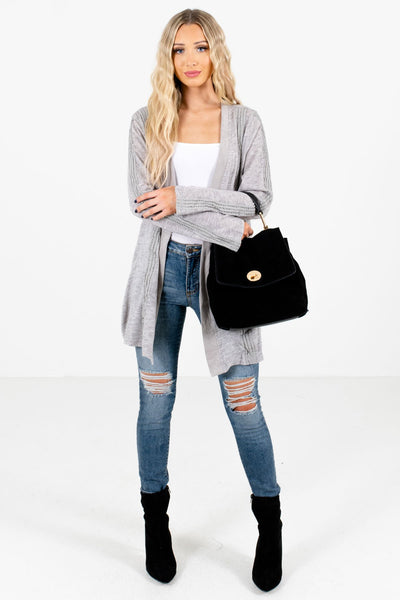 Heather Gray Cute and Comfortable Boutique Cardigans for Women